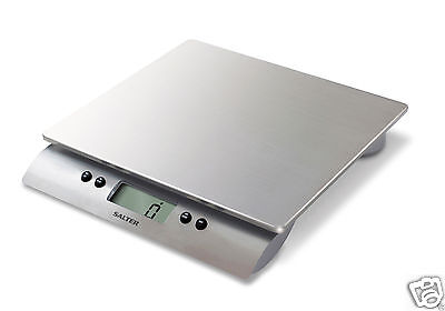 Salter Aquatronic Stainless Steel Electronic Digital 10kg Scale 3013 SSSVDR