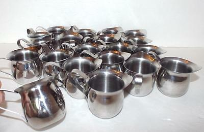 LOT of 20 VOLLRATH 46003 18/8 Stainless Steel Bell Creamer 3 ounce pitchers ++
