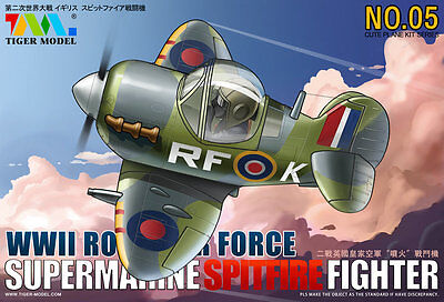 Tiger Model #105 CUTE Series Supermarine Spitfire Fighter