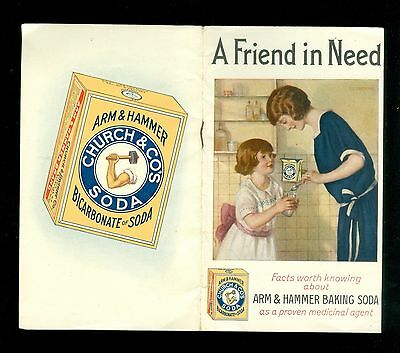 1924 Booklet Arm Hammer Baking Soda Health Uses