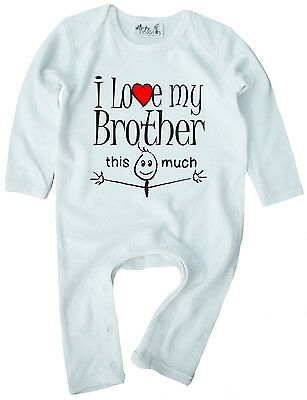 """Parents Baby T-Shirt /""""I Love My Mummy /& Daddy this Much/"""" Mother Father Gift"""