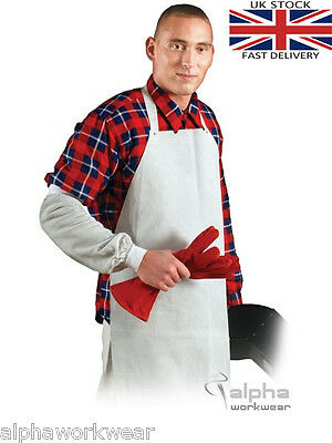 Welders Apron New Chrome Leather Welding Apron bib type with clasp on the back.