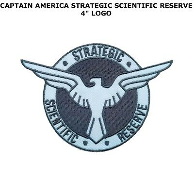 """Captain America Strategic Scientific Reserve 4"""" Embroidered Patch Us Seller"""