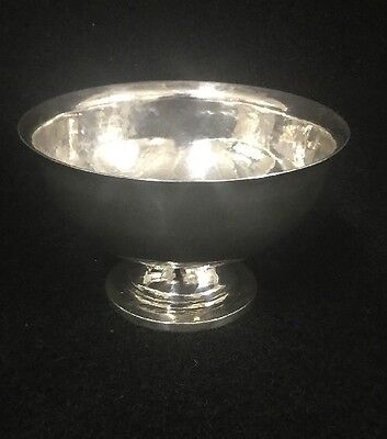 Mid-century Modern Hammered Sterling Silver Compote Dish By Ned A. Henderson