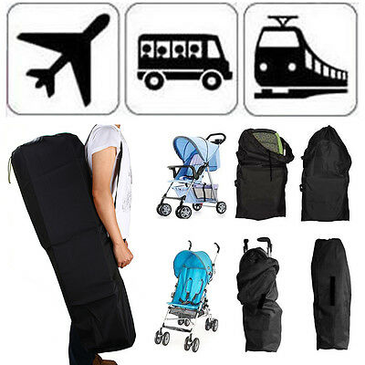 Car Train Plane Gate Check Pram Travel Bag Stroller Pushchair Waterproof Cover