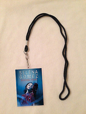 *selena Gomez Revival Tour 2016 Vip All Access Backstage Meet Pass With Lanyard*