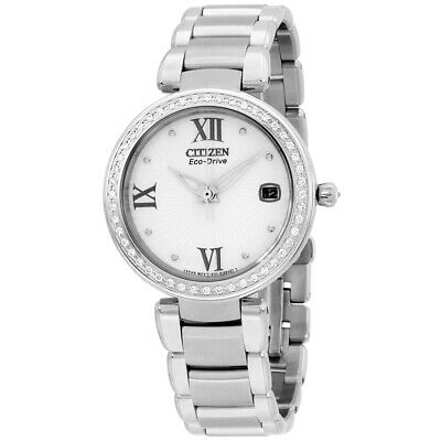 Citizen Marne Signature White Dial Stainless Steel Ladies Watch EO1100-57A