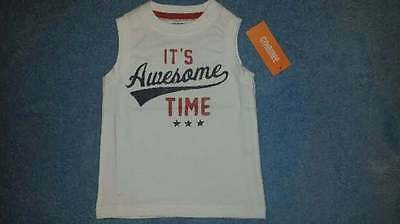 NWT Gymboree Hop 'N' Roll Boys It's Awesome Time Tank/Top, Size 18-24 Months