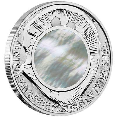 NEW Perth Mint Australian White Mother of Pearl Shell  2015 1oz Pure Silver Coin