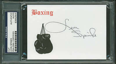 Leon Spinks Signed Autographed 3x5 Boxing Notecard PSA/DNA Authentic