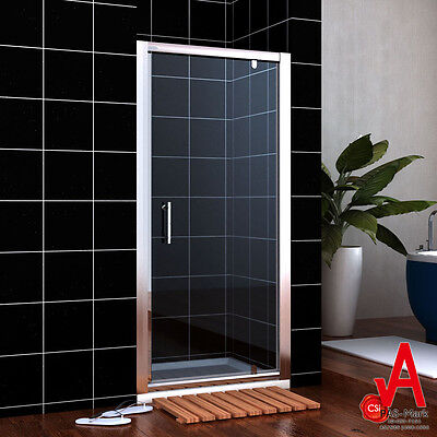 760/800/860/900/1000mm Shower Screen Enclosure Pivot door Wall to Wall