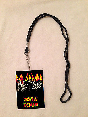 *def Leppard Tour 2016 Vip All Access Backstage Meet Pass With Lanyard Tickets*