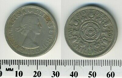 Great Britain 1955 - 1 Florin (2 Shillings) Copper-Nickel Coin - Q. Elizabeth II