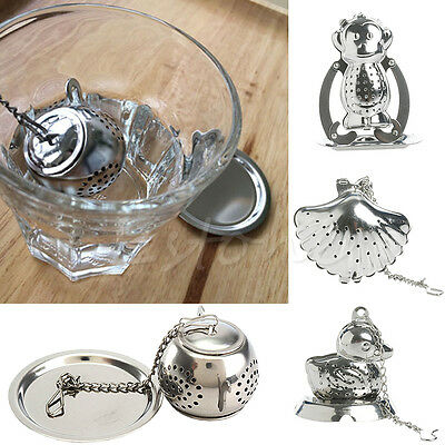 Stainless Steel Loose Tea Leaf Infuser Ball Strainer Filter Herb Spice Diffuser