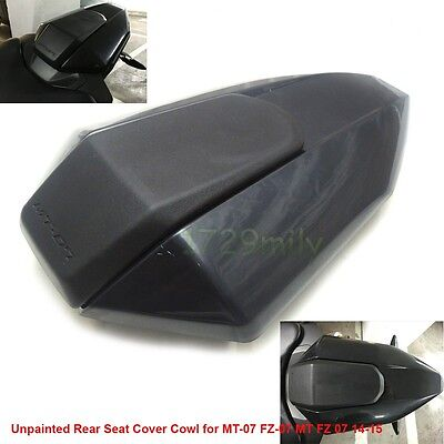 Unpainted Rear Seat Cover Cowl for YAMAHA MT-07 FZ-07 MT FZ 07 14-16 Black AU