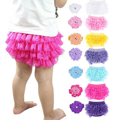 Kids Baby Infant Toddler Girls PP Pants Shorts Bloomers Ruffle Dress Underwear