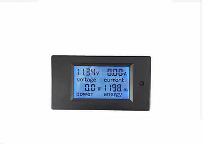 DC 100A LCD Volt Current KWh Watt Panel Power Meter Ammeter Voltmeter Multimeter
