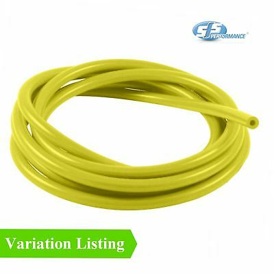SFS 1 Metre Yellow Silicone Vacuum Hose / Breather Turbo Tube Air Water Pipe