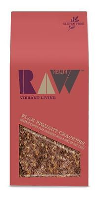 Raw Health Organic Flax Piquant Crackers 90g (Pack of 8)