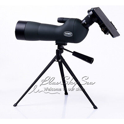 AU! GOMU Angled 20-60x Zoom Spotting Scope Monocular +Tripod +Phone Adapter+Case
