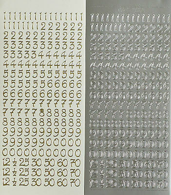 10mm (1cm) NUMBERS Type 3 PEEL OFF STICKERS Curled 25 30 50 60 70 1/2 Cardmaking