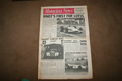 Motoring News 23 January 1969 Renault 16TS 1968 F2 Review Manfred Mohr F5000