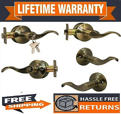 Constructor Prelude Antique Bronze Door Lock Lever Entry Privacy Passage Dummy