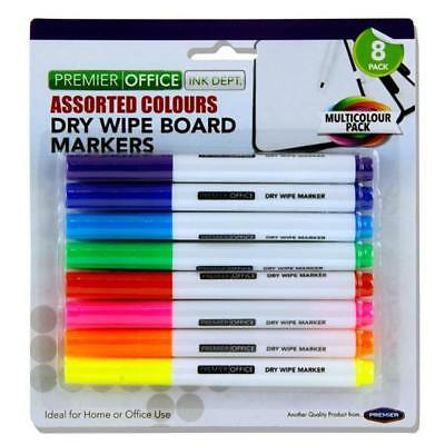 Dry Wipe Whiteboard Markers Assorted School/teacheroffice/ Pens 8 In Pack
