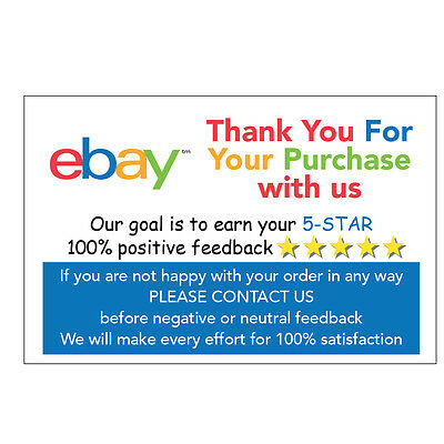 ebay Thank You For Your Purchase Stickers Glossy Coated 6cmX4cm - 03
