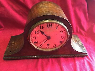 Vintage Oak Cased Chiming Mantel Clock