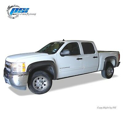 """BLACK PAINTABLE OE Style Fender Flares 07-13 Silverado 1500 Short Bed 69.3"""" ONLY"""