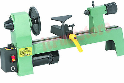 Small Benchtop Woodworking Wood Lathe Turn Machine Variable Speed #1 Taper Head