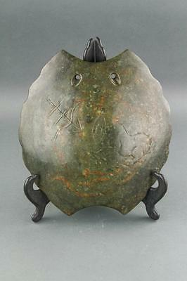 Chinese Archaistic Hardstone Carved Turtle Shell