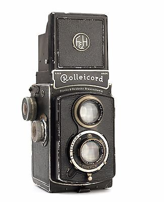 Rolleicord II - Model 1K Replacement Cover - Laser Cut Recycled Leather - Grainy