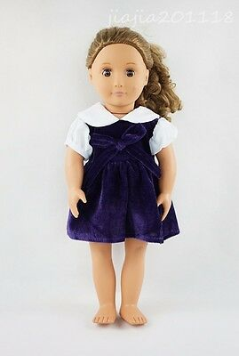 Purple Miniskirt Fit For 18'' American Girl Gift Doll Clothes Skirt Party Dress