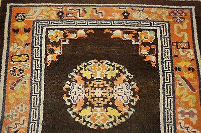 c1900s ANTIQUE MINT CHINESE EAST TURKISTAN KHOTAN RUG 2.7x4.6 ONE OF A KIND