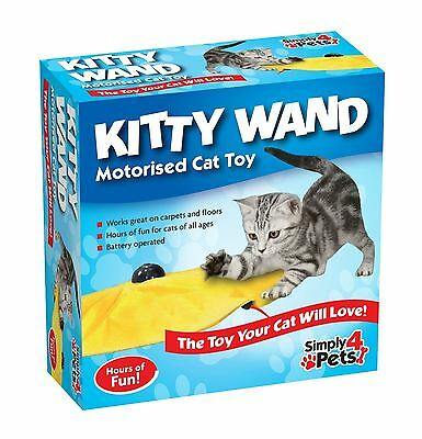 Cat Toy Kitten Undercover Yellow Skirt Motorised Moving Wand Mouse Toy New
