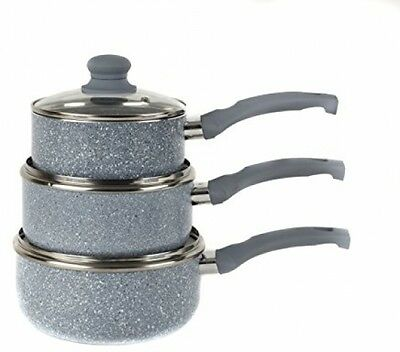 Russell Hobbs BW03721DB Stone Collection 3 Piece Grey Pressed Pan Set