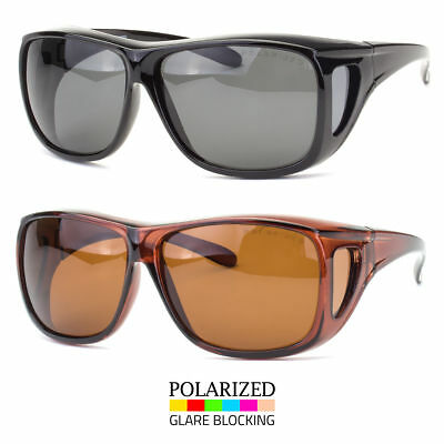 589aa8f80 1 Pair POLARIZED cover put over Sunglasses wear Rx glass fit driving SIZE  Large