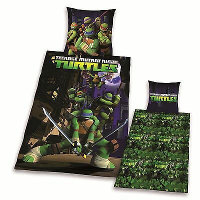 Teenage Mutant Ninja 4 Turtles Single Reversible Cotton Duvet Cover+Pillow Case