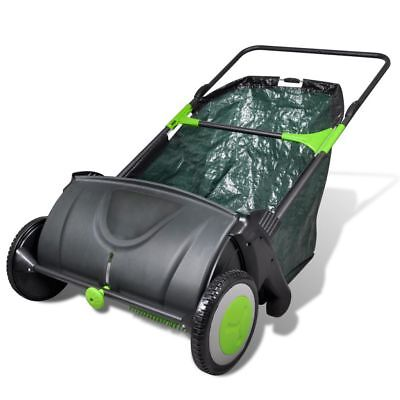 New Adjustable Lawn Leaf Sweeper Collector Push With Removable Grass Bag 103L