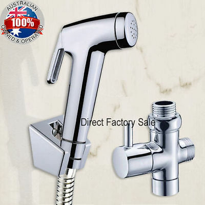 Round Hand Held Shower Head Douche Bidet Toilet Spray Jet Shattaf Kit Hygienic