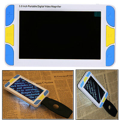 """5.0"""" LCD Portable Electronic Digital Magnifier Pocket Low Vision Reading Aid #S1"""