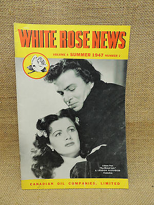 White Rose Canadian Oil Company News Magazine Summer 1947 The Wicked Lady