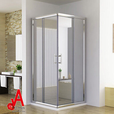 760-1200x1900mm Corner Shower Screen with Double Sliding Doors+Matching Base