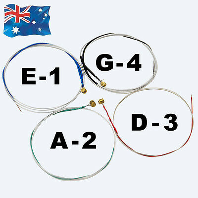 Set Steel Core E A D G Violin Strings for Full Size 4/4