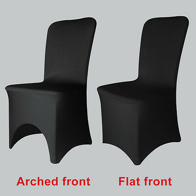 1-100pcs Black Spandex Lycra Chair Cover Wedding Banquet Party two species