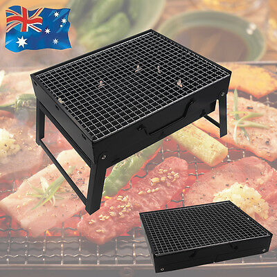 Portable Outdoor Charcoal Barbeque Just Fold & Go Bbq Grill Picnic