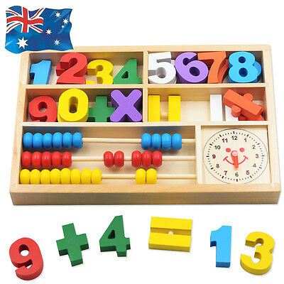 Wooden Numbers Mathematics Kids Child Early Learning Counting Educational Toy