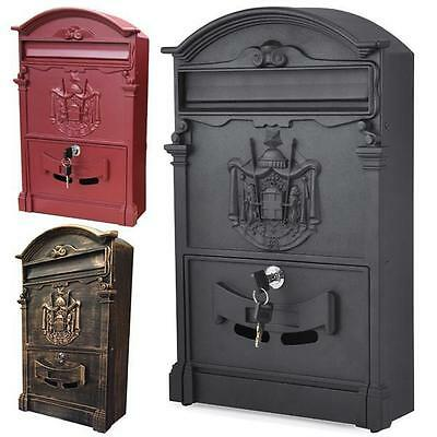 Large Premium Lockable Secure Post Box Wall Mounted Stainless Mail Letter Box